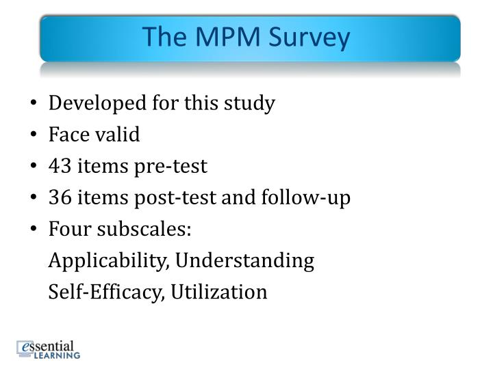 The MPM Survey