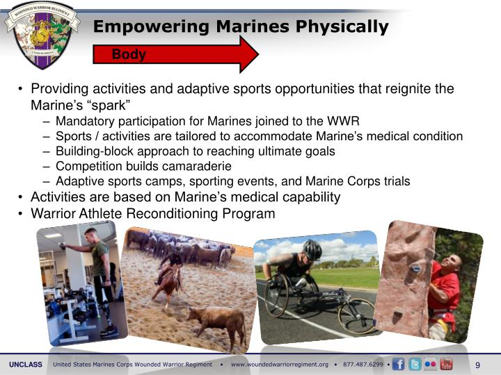 Empowering Marines Physically