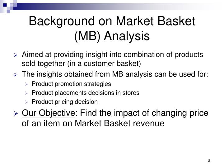 Background on market basket mb analysis