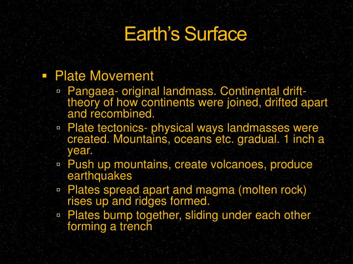 Earth's Surface