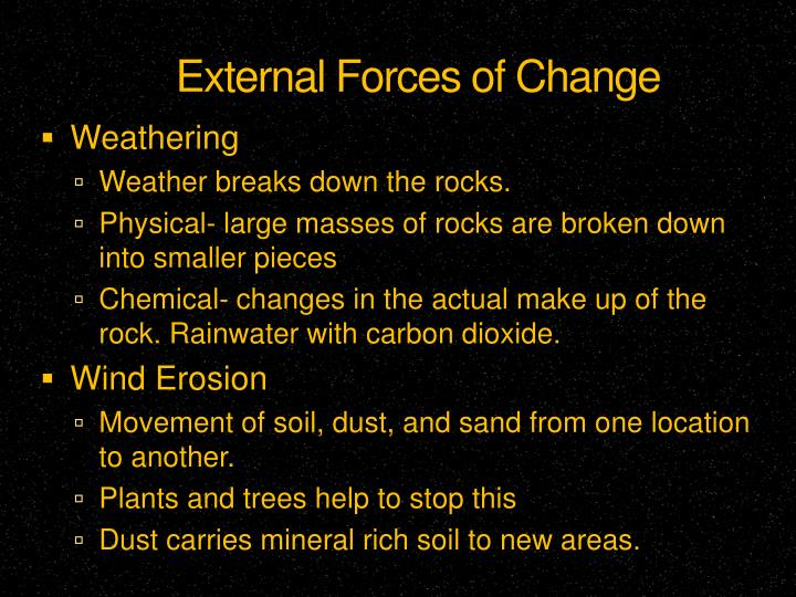 External Forces of Change