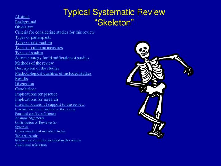 "Typical Systematic Review ""Skeleton"""