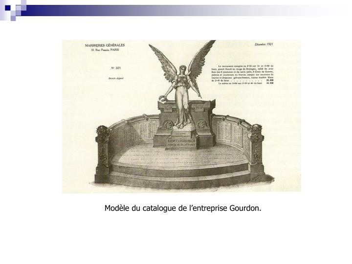 Modèle du catalogue de l'entreprise Gourdon.