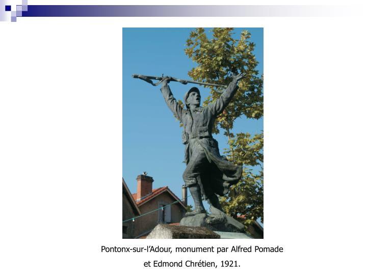 Pontonx-sur-l'Adour, monument par Alfred Pomade