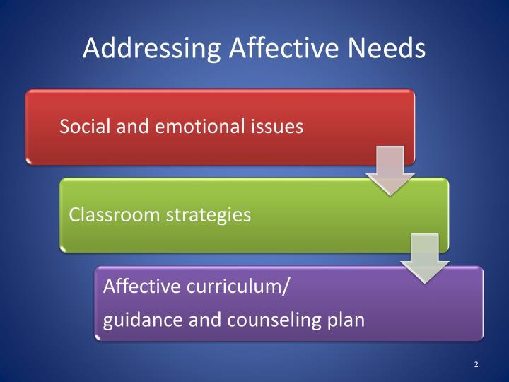 Addressing Affective Needs