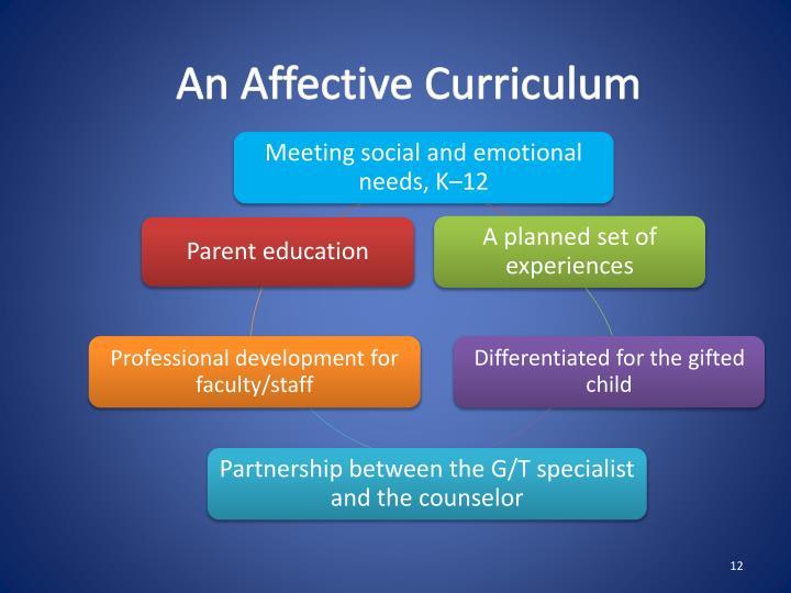 An Affective Curriculum