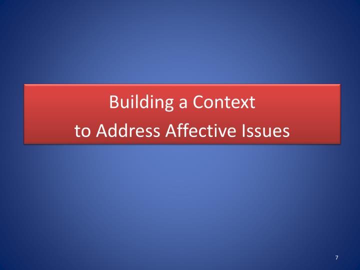 Building a Context