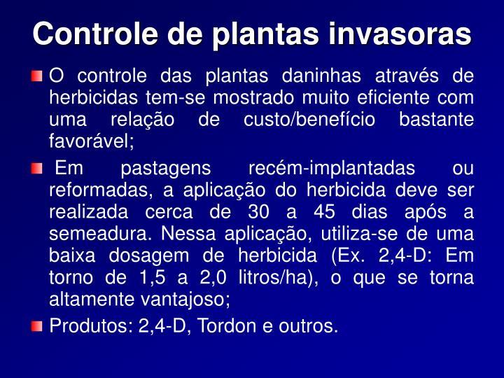 Controle de plantas invasoras