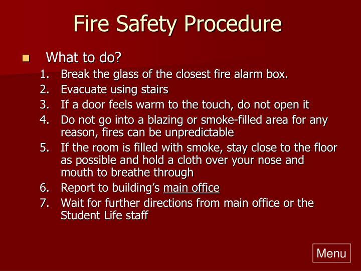 Fire Safety Procedure