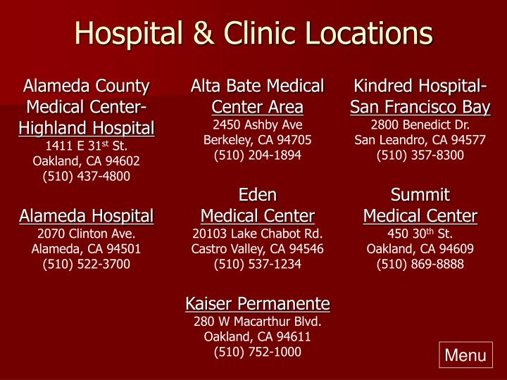 Hospital & Clinic Locations