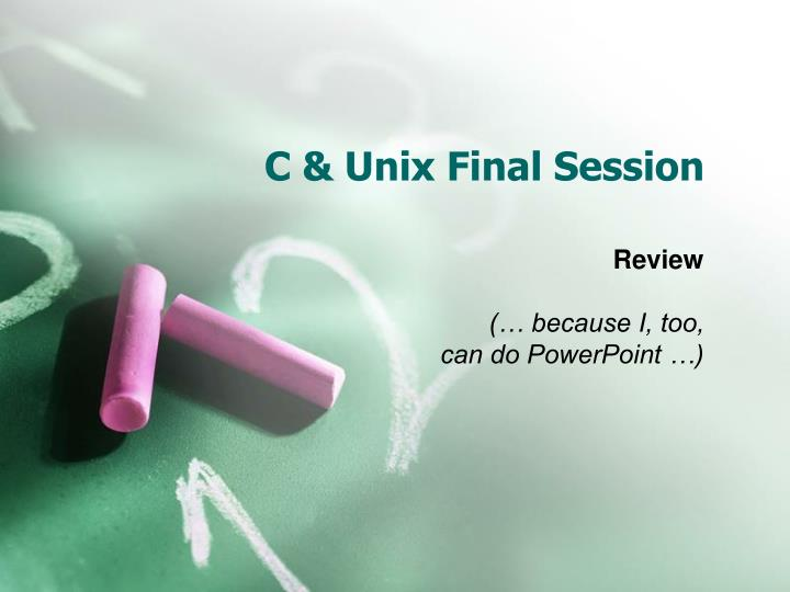 C unix final session