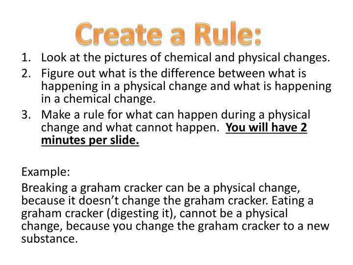 Create a Rule: