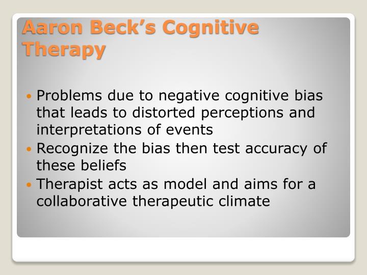 Problems due to negative cognitive bias