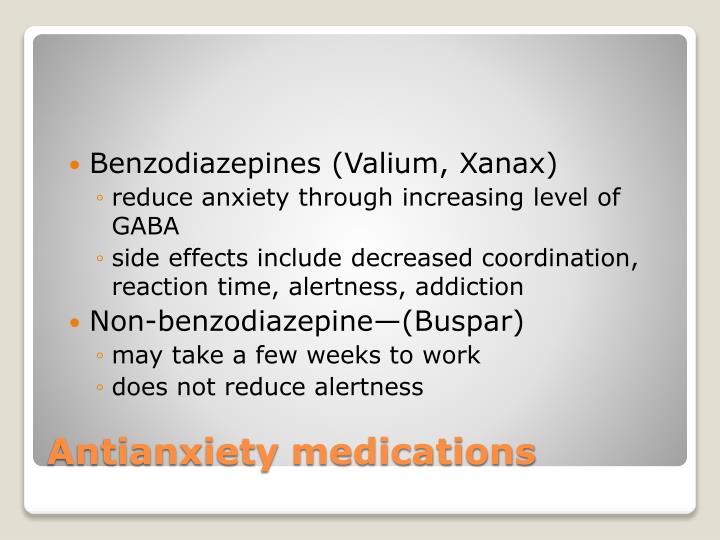 Benzodiazepines (Valium, Xanax)