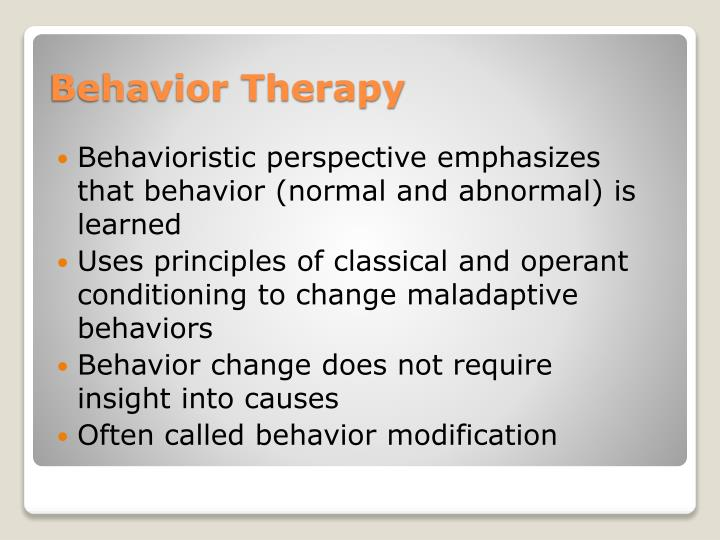 Behavioristic perspective emphasizes that behavior (normal and abnormal) is learned