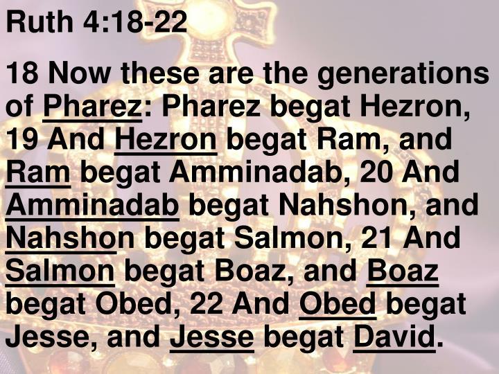 Ruth 4:18-22