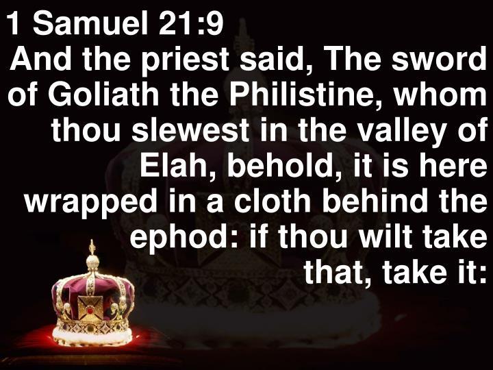 1 Samuel 21:9