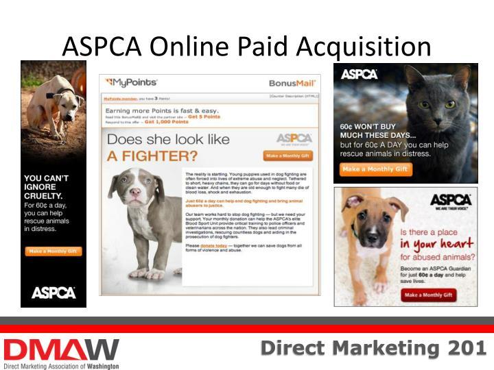 ASPCA Online Paid Acquisition