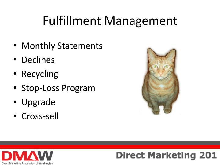 Fulfillment Management