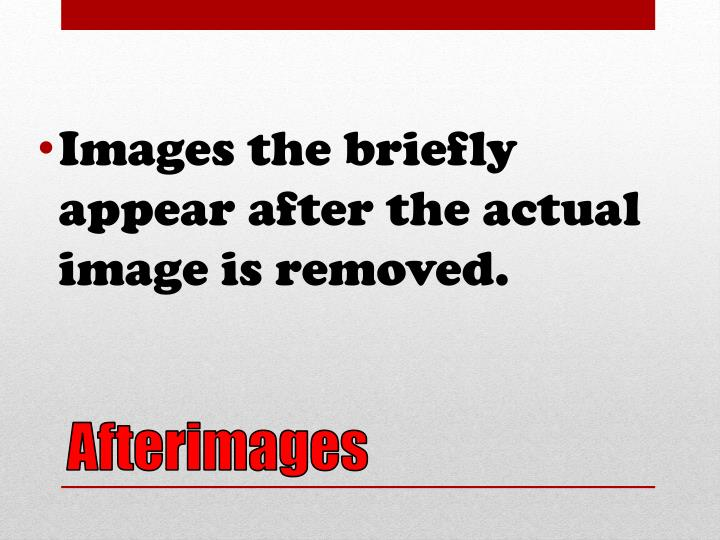 Images the briefly appear after the actual image is removed.