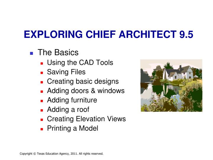 Exploring chief architect 9 5