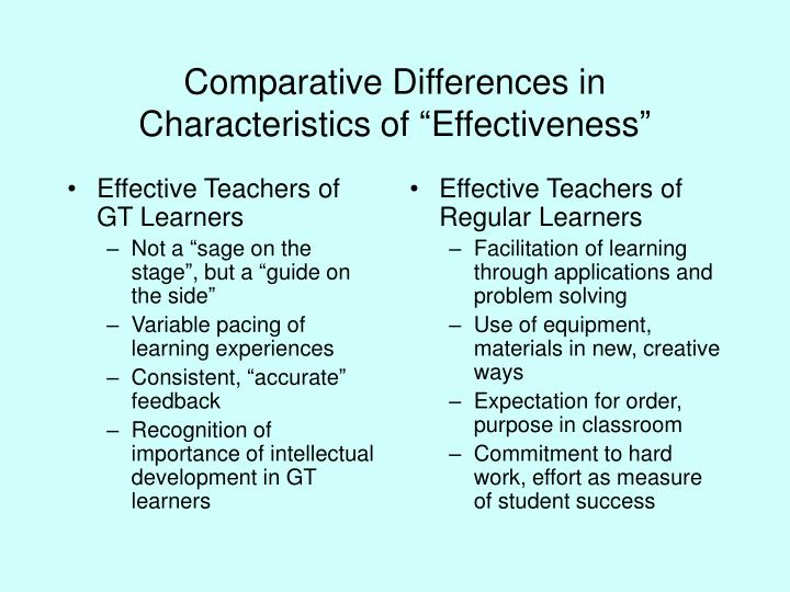 Effective Teachers of GT Learners