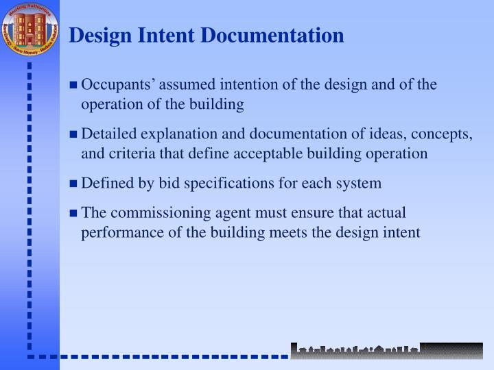 Design Intent Documentation