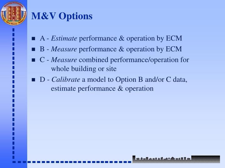 M&V Options