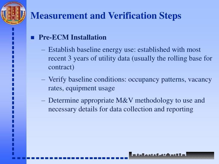 Measurement and Verification Steps