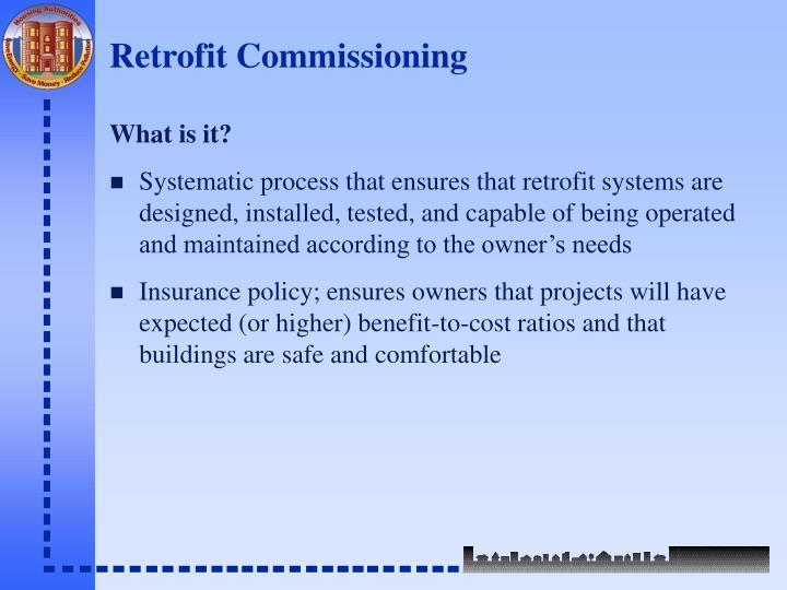 Retrofit Commissioning