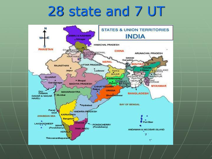 28 state and 7 UT
