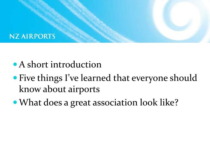 Ppt A Short Introduction Five Things I Ve Learned That