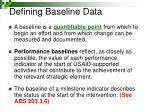 defining baseline data