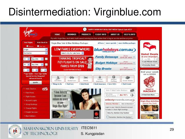 Disintermediation: Virginblue.com