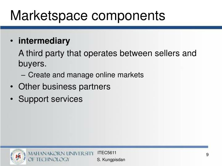 Marketspace components