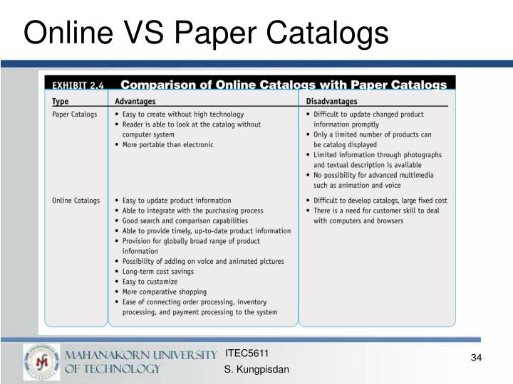 Online VS Paper Catalogs