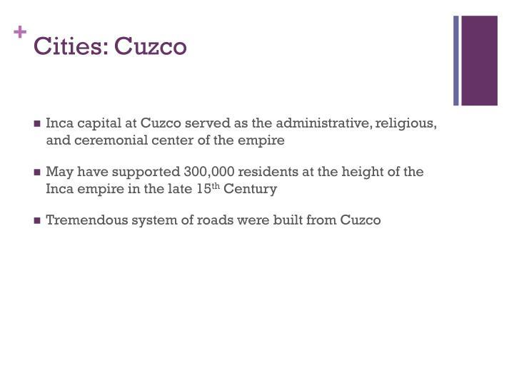 Cities: Cuzco