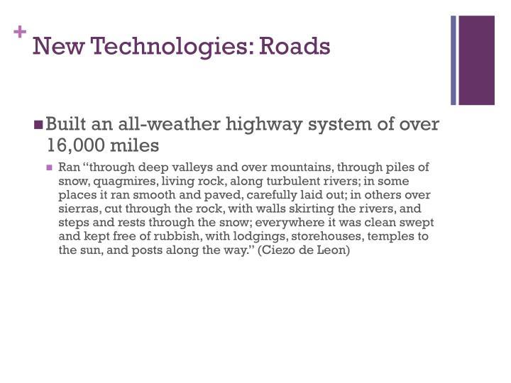 New Technologies: Roads