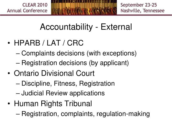 Accountability - External