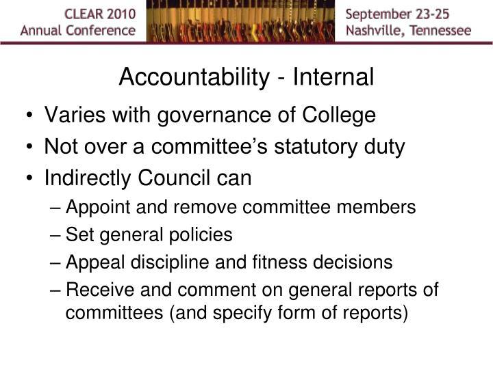 Accountability - Internal