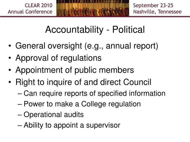 Accountability - Political