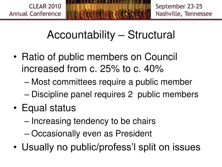 Accountability – Structural