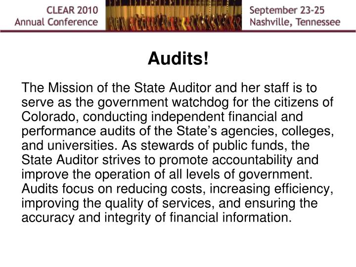 Audits!