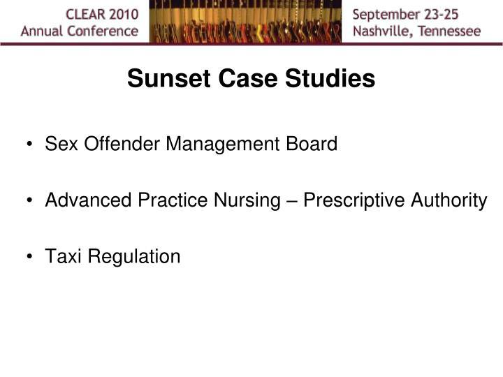 Sunset Case Studies