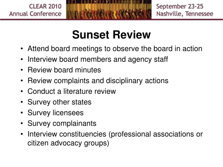 Sunset Review