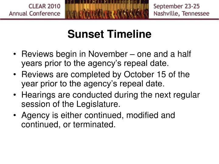 Sunset Timeline