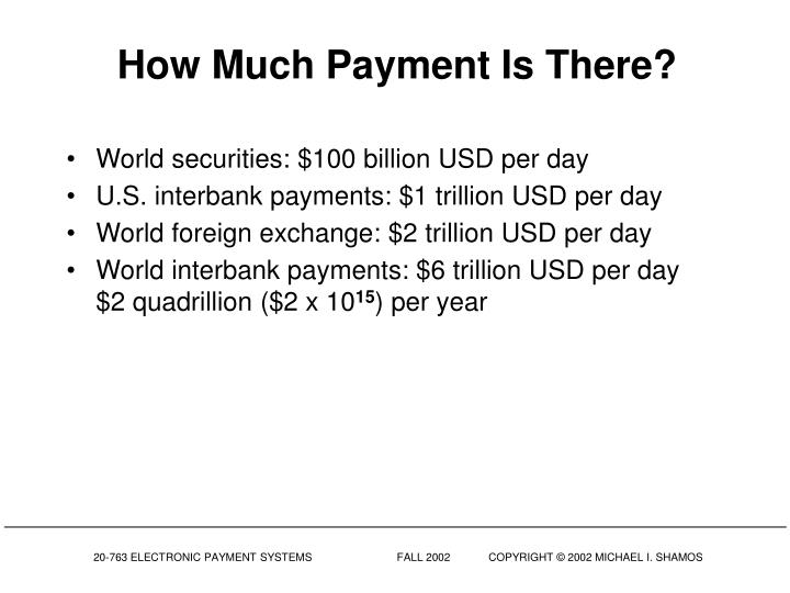 How Much Payment Is There?
