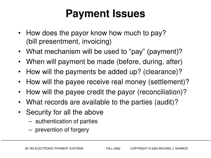 Payment Issues