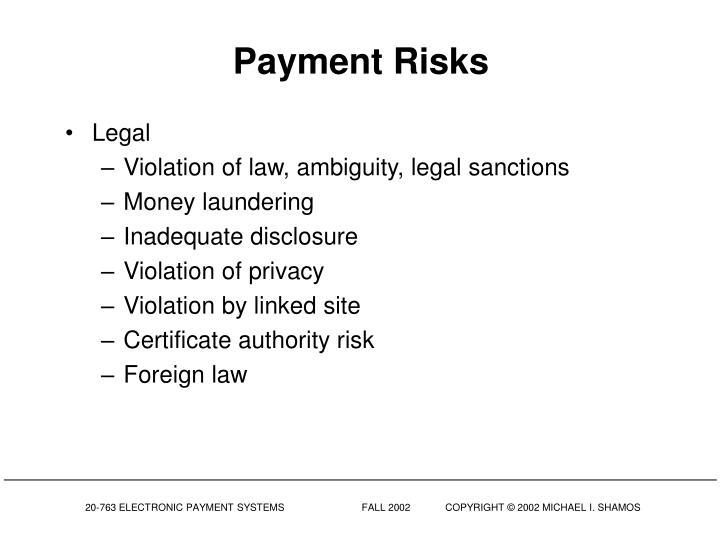 Payment Risks