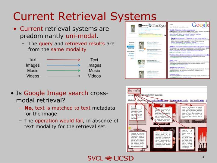 Current Retrieval Systems